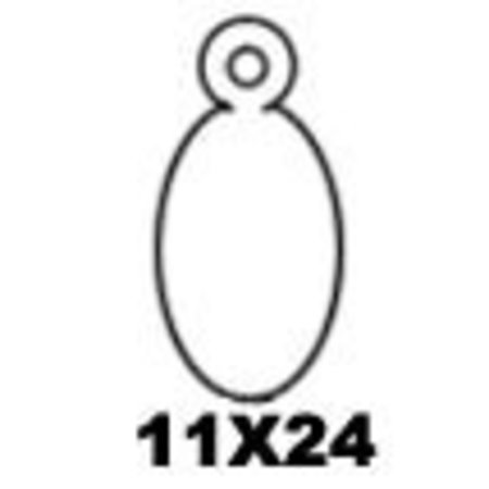 APLI - Hangetiket - 11x24mm - 1000 stuks - Wit