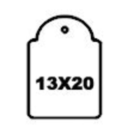 APLI - Hangetiket - 13x20mm - 1000 stuks - Wit
