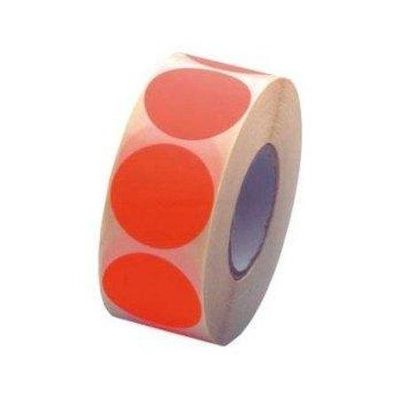Fluorstickers 35mm rood
