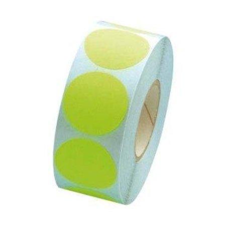 Fluorstickers 25mm groen