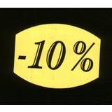 Etiket fluor geel 33x25mm -10%, 500/rol