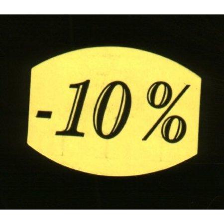Etiket fluor geel 27mm -10%, 500/rol