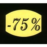Etiket fluor geel 33x25mm -75%, 500/rol