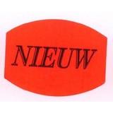 Etiket fluor rood 33x25mm -NIEUW 500/rol