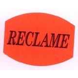 Etiket fluor rood 33x25mm - RECLAME