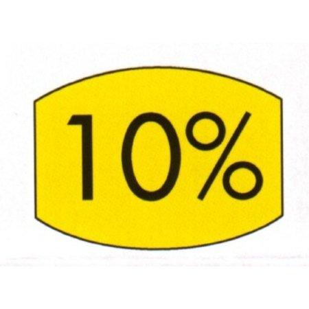 Etiket geel 33x25mm 10 procent 500/rol