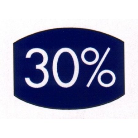 Etiket blauw 33x25mm 30 procent 500/rol
