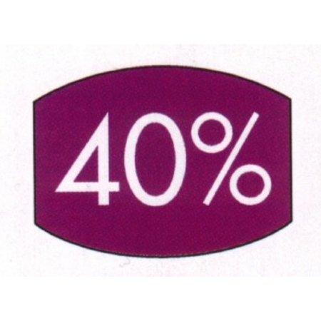 Etiket paars 33x25mm 40 procent 500/rol