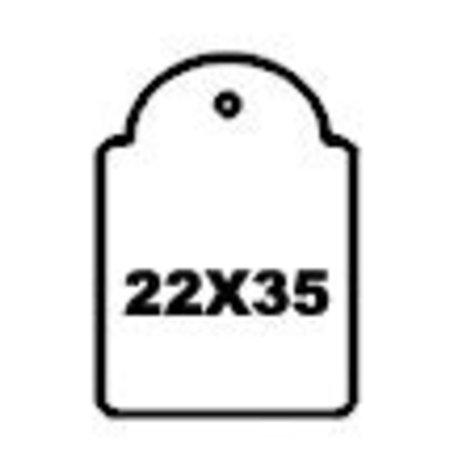 APLI - Hangetiket - 22x35mm - 500 stuks - Wit