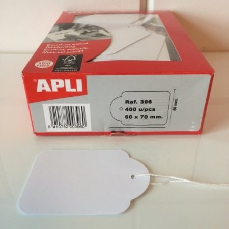 APLI - Hangetiket - 50x70mm - 400 stuks - Wit
