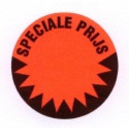 Fluorstickers speciale prijs 50mm rood
