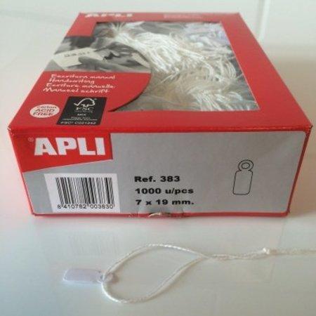 APLI - Hangetiket - 7x19mm - 1000 stuks - Wit