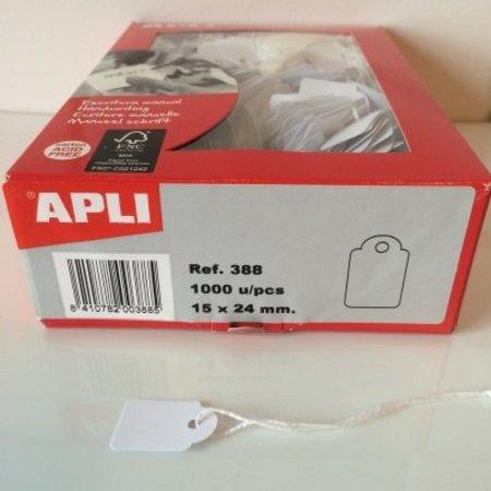 APLI - Hangetiket - 15x24mm - 1000 stuks - Wit