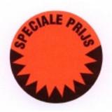 Fluorstickers speciale prijs 35mm rood