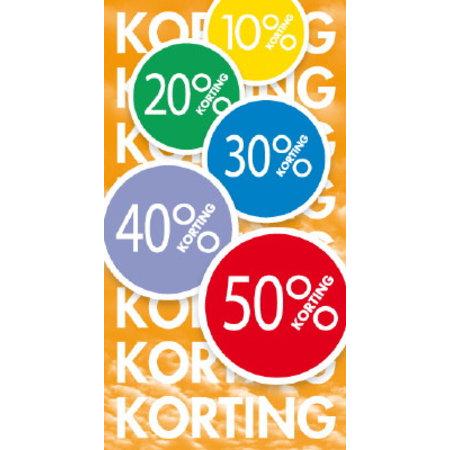 Raambiljet 50x94cm, 10% 20% 30% 40% 50% + Korting