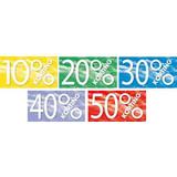 Raambiljet 50x94cm, 10% t/m 50% (5 stuks)