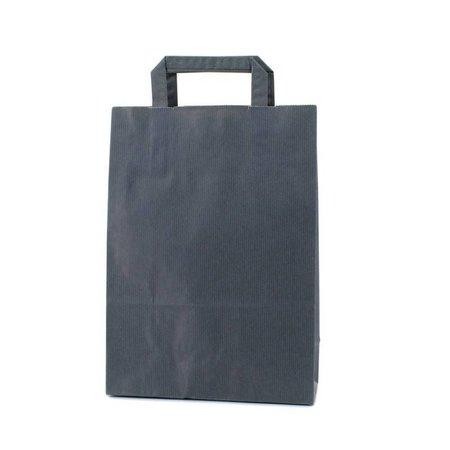 250 x Papieren tas platte lus - Donkerblauw