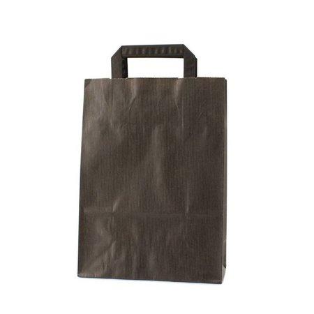 250 x Papieren tas platte lus - Zwart