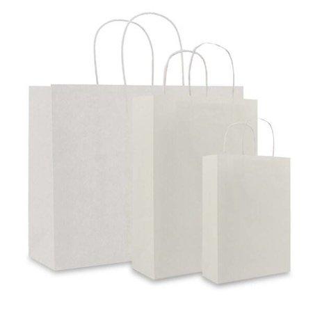 250 x Papieren tas - Wit - 120 grs.