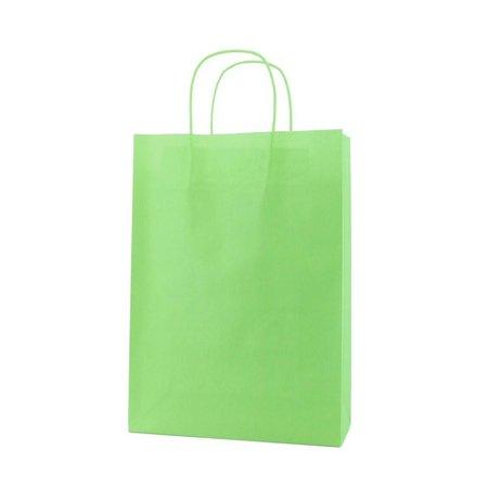 250 x Papieren tas - groen - 120 grs.