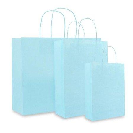 250 x Papieren tas - Aqua blauw - 120 grs.