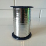 Krullint 5mm zilverglans