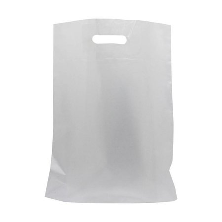 500 x Plastic tas met uitgestanste handgreep 36 x 44 + 2 x 4 cm., Semi transparant