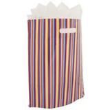 500 x Plastic tas 45 x 50 + 2 x 4 cm., Streep dessin