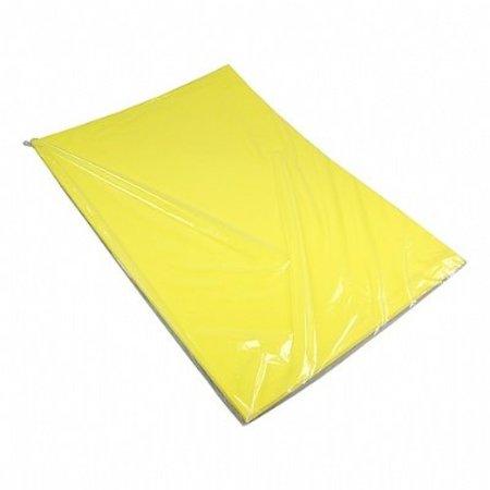 Etalagekarton 48x68 cm fluor geel 380 gr. 25 stuks