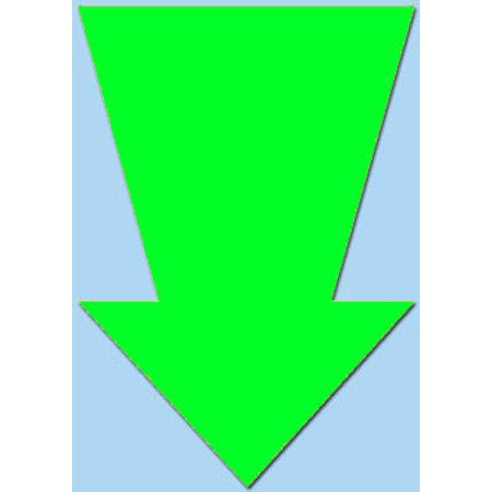 Fluor pijl 15x10 cm fluor groen  50 stuks