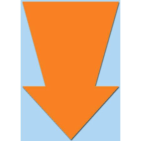 Fluor pijl 22x15 cm fluor oranje  50 stuks