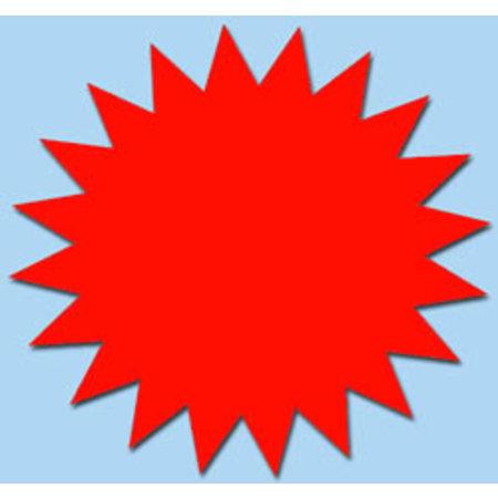 Fluor ster 10 cm fluor rood 50 stuks
