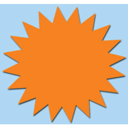 Fluor ster 10 cm fluor oranje 50 stuks