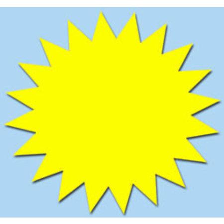 Fluor ster 10 cm fluor geel 50 stuks