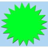 Fluor ster 10 cm fluor groen 50 stuks