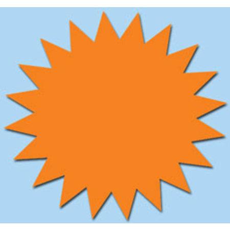 Fluor ster 15 cm fluor oranje 50 stuks