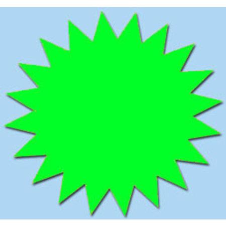 Fluor ster 15 cm fluor groen 50 stuks