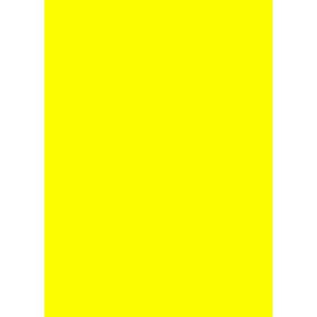 Prijskaartpapier fluor geel 80 grams papier, A4, 500 vel