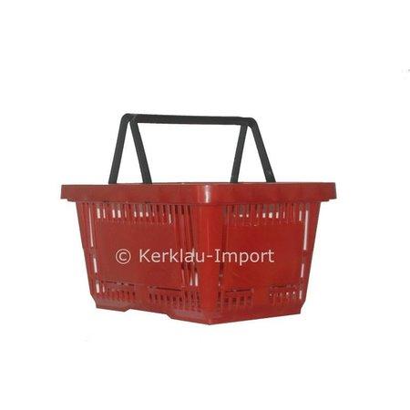 Winkelmandje met dubbele hengsels 28 liter ROOD
