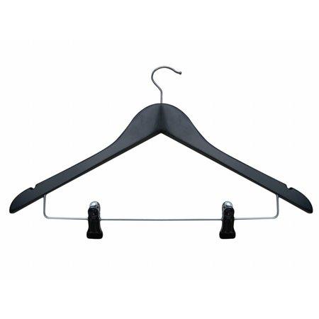 50 x Combihanger zwart, licht geknikt, 44 cm