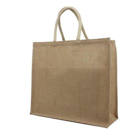 80 x Jute tassen 30 + 20 x 30 cm., Naturel Jute