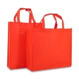 100 x Non woven shopper - Rood