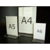 Menustandaard A4, dubbelzijdig te gebruiken.