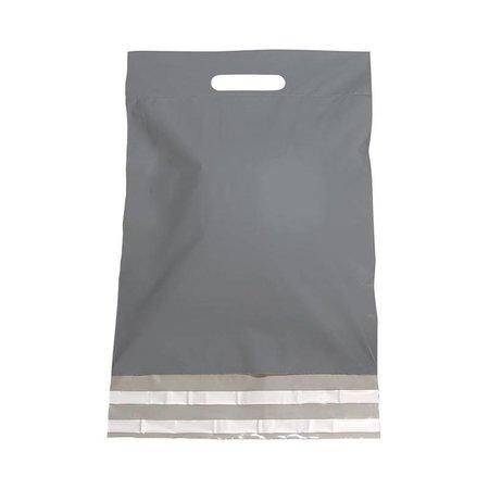 250 x Verzendtassen 30 x 40 + 7 cm., Buitenzijde zilver