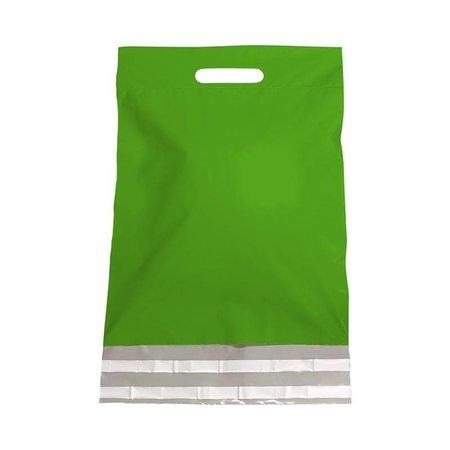 250 x Verzendtassen 30 x 40 + 7 cm., Buitenzijde groen