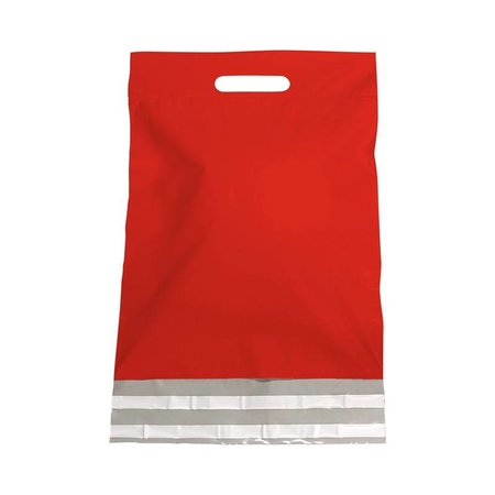 250 x Verzendtassen 30 x 40 + 7 cm., Buitenzijde rood