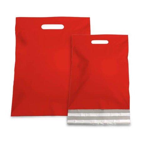 250 x Verzendtassen 45 + 56 + 7 cm., Buitenzijde rood