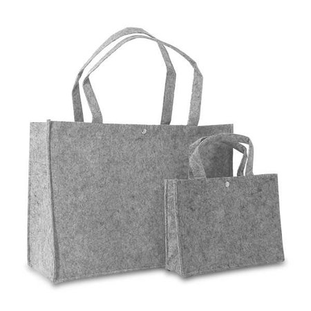 50 x Vilten tassen 45 + 15 x 33 cm., Grijs