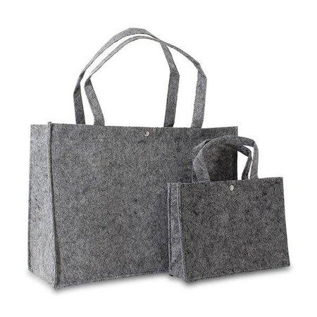 50 x Vilten tassen 45 + 15 x 33 cm., Donker grijs