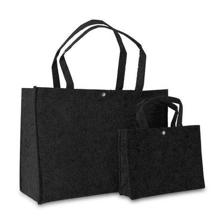 50 x Vilten tassen 45 + 15 x 33 cm., Zwart